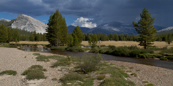 Storm over Mt. Dana from Tuolumne Meadows
